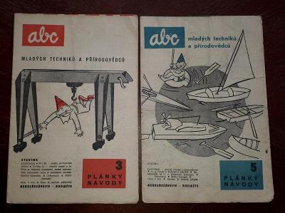 ABC PLÁNKY  NÁVODY -  č. 3 a 5  - ročník 1959/60
