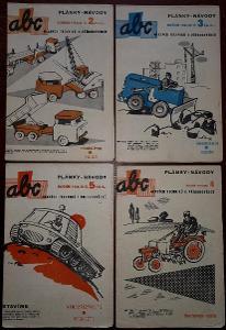 4x  ABC PLÁNKY NÁVODY - č. 2, 3, 4, 5 - ročník 1961/62