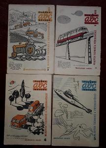 4x  ABC PLÁNKY NÁVODY - č. 2, 3, 4, 5 - ročník 1960/61