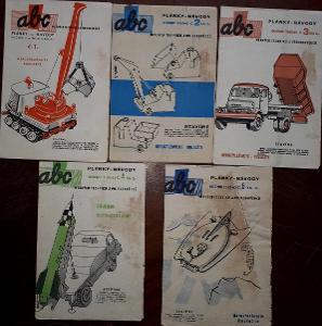 5x ABC PLÁNKY NÁVODY - č. 1, 2, 3, 4, 5  - ročník 1962/63
