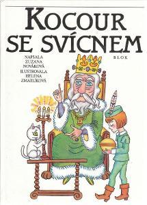 Zuzana Nováková Kocour se svícnem ilustrace Helena Zmatlíková