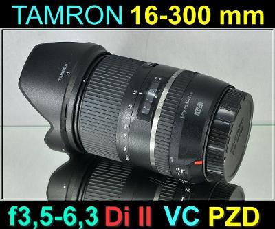 💥 pro Canon - TAMRON 16-300mm F/3.5-6.3 Di II VC PZD **UV FILTR*TOP👍