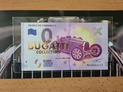 0 Euro souvenir bankovka MUSEU DO CARAMULO - BUGATTI COLECTION FOLDER