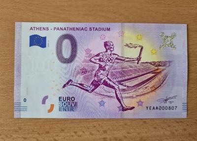 0 Euro souvenir bankovka Athény - Olympijský stadión - č. 807