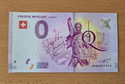 0 Euro souvenir bankovka FREDDIE MERCURY - Švýcarsko - Montreux
