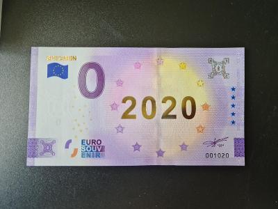 0 euro souvenir bankovka SPECIMEN 2020 GOLD