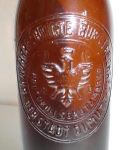 Pivní lahev Der Stadt Olmutz