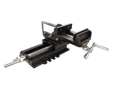 BZ Křížový svěrák dvouosý s čelistí 100mm dílenský strojní G01029