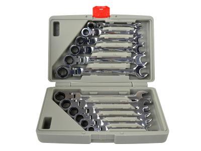 SADA 12ks Klíče ráčnové očkoploché s kloubem 8-19mm K00106