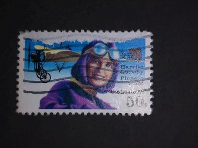USA, letadlo, Blériot XI, Harriet Quimby
