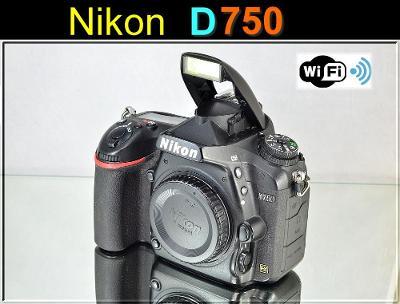 💥 Nikon D750 **FX 24,3MPix, 6sn./s, Full HDV, WIFI**👍TOP 6050 Exp.
