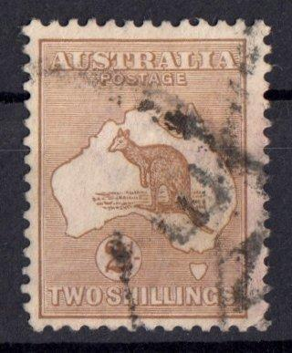 Austrálie 1913 ʘ/ Mi. 14 ,  mapa , klokan , /L22/