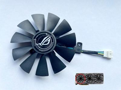 Ventilátor levý 87mm pro ASUS STRIX GTX 980ti 1060 1070 1080 R9 390