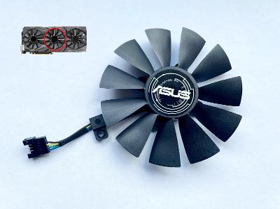 Ventilátor střed 87mm pro ASUS STRIX GTX 980ti 1060 1070 1080 R9 390