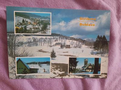 Pohlednice Stříbrná,Bublava,prošlé poštou