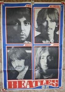 plakát BEATLES - r.1969 AGENTURA EXPRES, POP MUSIC EXPRES !!! Kánský