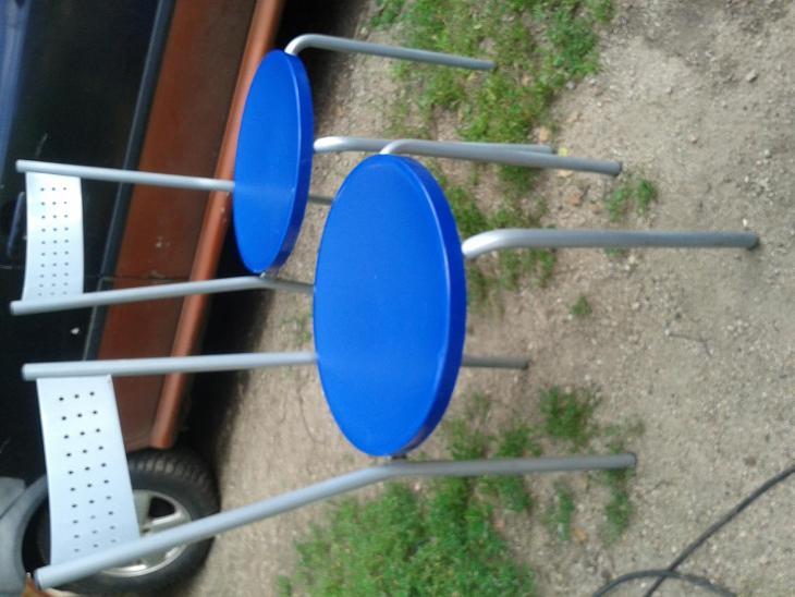 židle kovové 2ks- viz foto - Nábytek