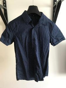 Pánská košile tmavě modrá vel. S krátký rukáv