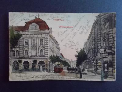 Opava Troppau Olomoucká ulice tramvaj Slezsko