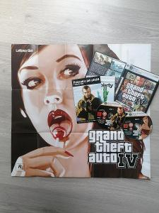 Grand Theft Auto 4 (GTA) s plakátem/mapou pro sběratele PC hra