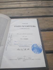 VYPSÁNÍ HRADU POTENŠTEINA V HRADECKU , Fr.J.Zoubek