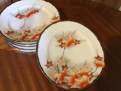 Starožitné ručně malované,plasticky zdobené talířky   ❤️  ZnačJaponsko