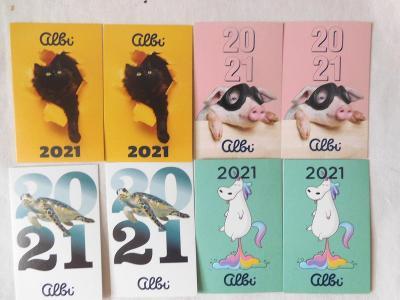 Kartičkové kalendáříky Albi