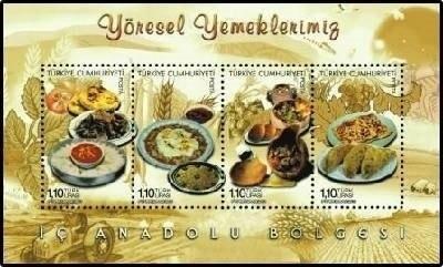 Turecko 2013 známky Aršík Mi 105 ** tradiční jídlo gastronomie