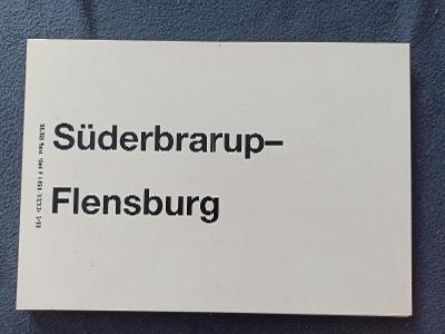Směrová cedule DB - RB (Süderbrarup - Flensburg)