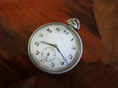 Švýcarské starožitné kapesní hodinky LANCO  - funkční