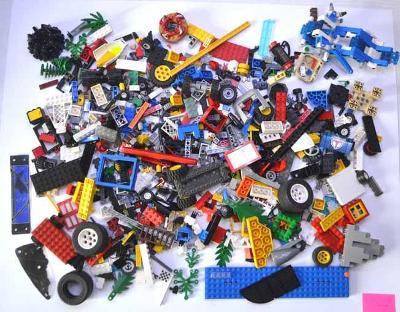 Lego - pouze jednotlivé díly (8) 1,10 kg + dárek oddělovač kostek
