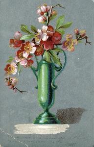 Přání - květina ve váze *