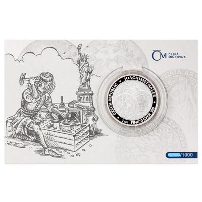 Stříbrná investiční mince 1 oz Tolar - ČM 2021 proof číslovaná blistr