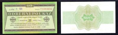 Tuzexová poukázka. 10 TKčs 1991/XI.