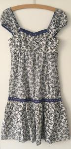 Bavlněné kytičkové šaty- vel.36/38, S/M, zn: Yessica- Nové