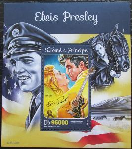 Svatý Tomáš 2016 Elvis Presley Mi# Mi# Block 1185 Kat 10€ 2110