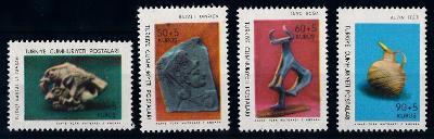 Turecko 1966 známky Mi 2004-2007 ** archeologie Archeologické muzeum