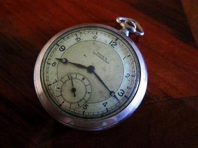 Švýcarské starožitné kapesní hodinky DOXA  - funkční
