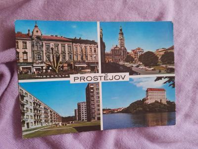 Pohlednice Prostějov,prošlé poštou