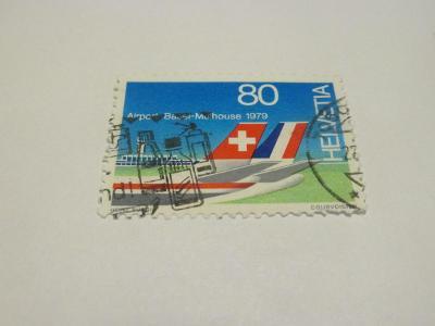 Známky Švýcarsko 1979, Letiště - Letectví