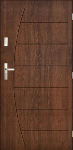 Venkovní vchodové dveře CONZUMEL PLUS - 55 mm 80-tky ořech pravé
