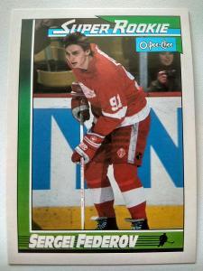 Sergei Fedorov #8 Detroit Red Wings 1991/92 O-Pee-Chee