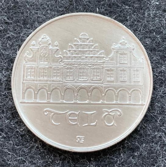 🌶 Stříbrná MINCE - 50 Kčs - TELČ - 1986 - Perfektní Stav - Numismatika