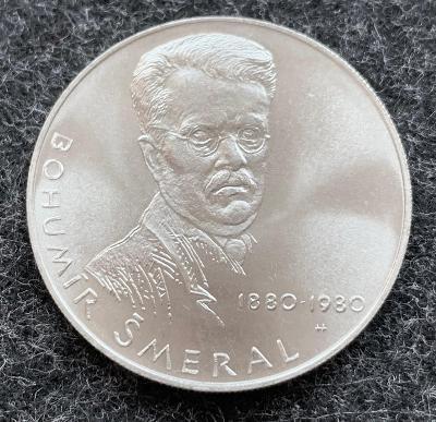 🌶 Vzácná stříbrná mince 50 Kčs 1980 Bohumír Šmeral