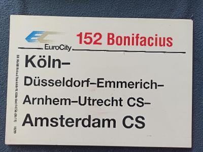 Směrová cedule DB - EC 152 BONIFACIUS