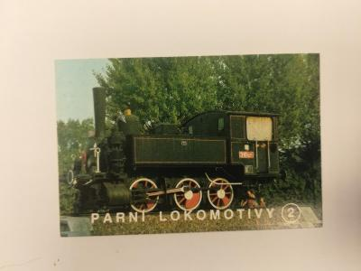 Kartička - Parní lokomotiva