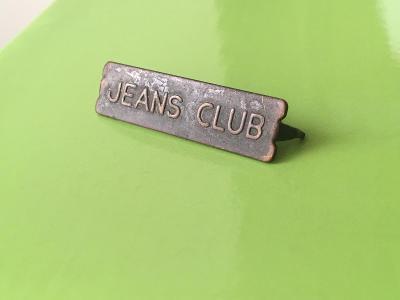 Kovový emblém JEANS CLUB (ČSSR)