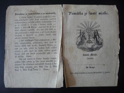prastará motlidba (Památka ze svaté missie