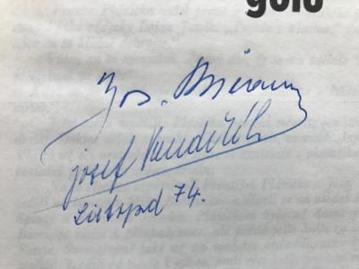 Bican, Pět tisíc gólů – Josef Pondělík (1974) – podpis Pepi Bicana!!!