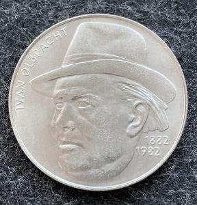 🌶 Vzácná Stříbrná MINCE 100 Kčs 1982 Ivan Olbracht - Perfektní Stav